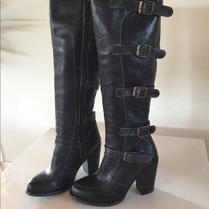 New Bed Stu Statute Black Rustic Boots Size 6